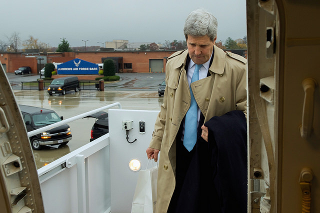 State Depart Photo: Secretary Kerry Departs for London, Vienna for Iran Nuclear and Other Talks